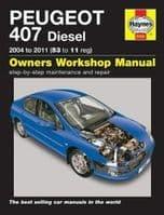 Haynes Manual Peugeot 407 1.6 2.0 Diesel 2004-11 Workshop Manual